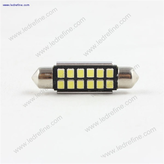 42mm 3528smd 12smd canbus festoon bulb
