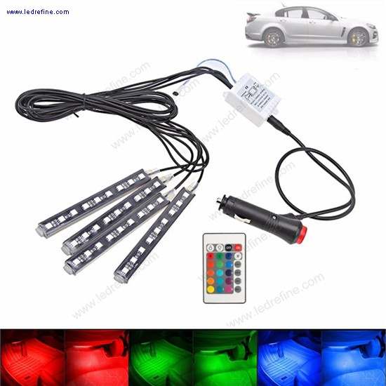 remote control RGB led strip interior light