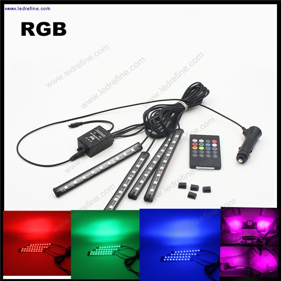 remote music control RGB led strip interior light